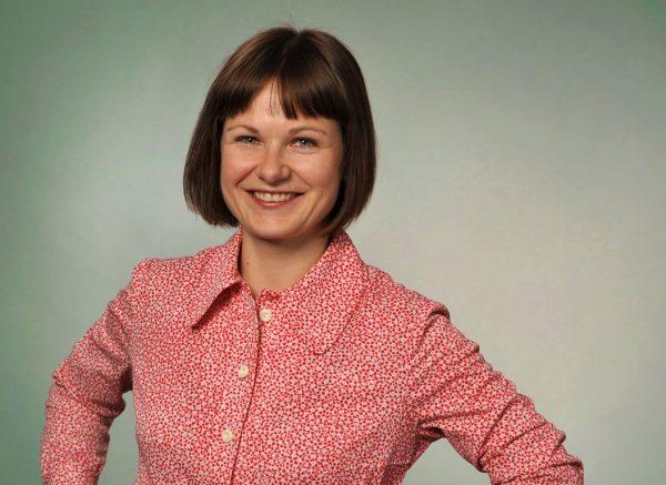 """Stefanie Nünchert mit ihrem Projekt """"Zur Tonne""""."""