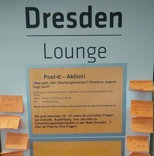 Dresden Lounge mit Schüler*innen, Fridays for Future und OB Dirk Hilbert