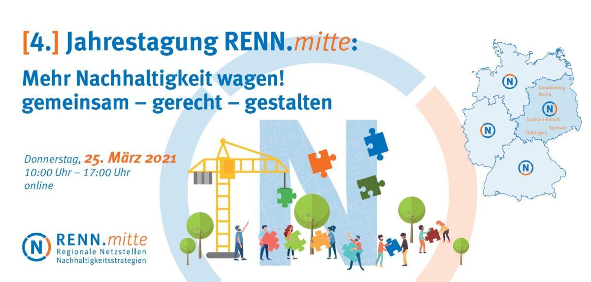 Jahrestagung RENN.mitte: Mehr Nachhaltigkeit wagen! am 25. Februar 2021
